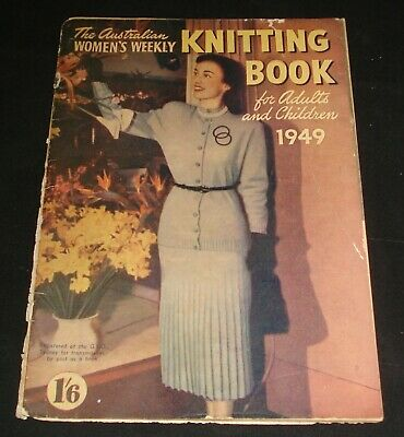VINTAGE 1940s WOMEN'S WEEKLY KNITTING BOOK FOR ADULTS & CHILDREN