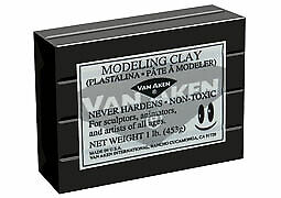 Plastalina Modeling Clay 4.5 lb. Bar - Black