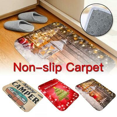 Christmas Carpet Non-slip Door Mat Aera Rug Anti-slip Rectangular Kitchen Mat