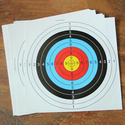 QTY 10 Archery Target 60cm Approved Reinforced Archery Paper Target Face 60