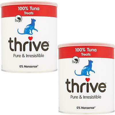 2 X Thrive Chat 100% Thon Friandise Maxitube - 200g - Real Naturel Lyophilisé