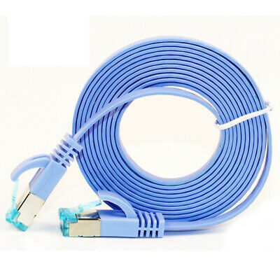 High Quality 5m Cat6 Ethernet Flat Cable RJ45 Computer LAN Network Cord  IO ZH