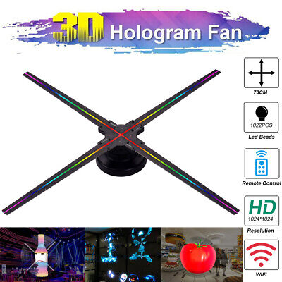 3D Hologram Projector Fan Holographic WiFi Advertising Exhibiton Display I8C3