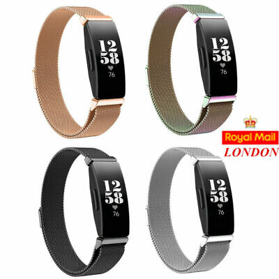 For Fitbit Inspire / HR Milanes Watch Loop Strap Band Magnetic Stainless Steel L