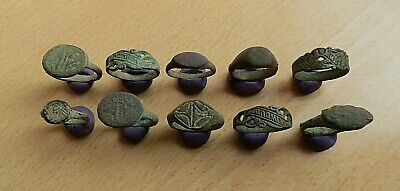 Lot of 10 Ancient Roman and Medieval Bronze Rings DETECTOR FIND