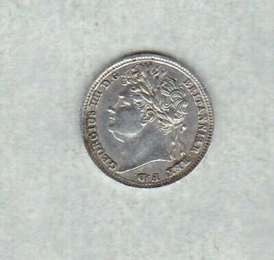 1828 George Iv Maundy Silver Onepence In Extremely Fine Condition.
