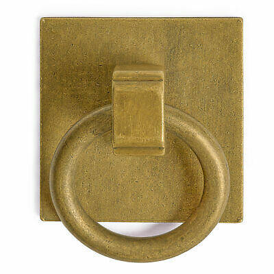 """CBH 2 Chinese BRASS RING PLATE Cabinet Hardware Pull 1.25"""""""