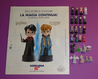 Harry Potter Esselunga. Serie Completa Wizzis E Animali Fantastici + Collector !