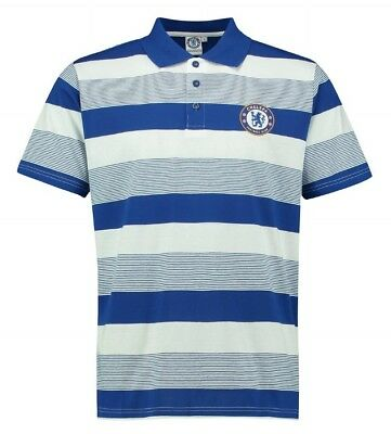 Chelsea FC Striped Football Polo Shirt Kids 4 5 Years Boys T Official Gift CP3