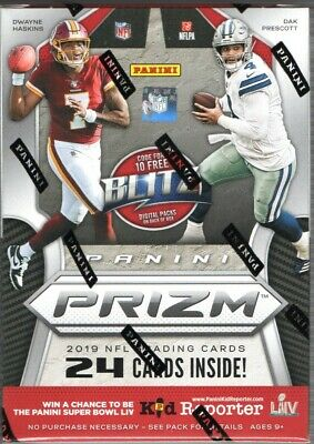 2019 Panini Prizm NFL Football Trading Cards Blaster Box Unwrap Draft Rookies