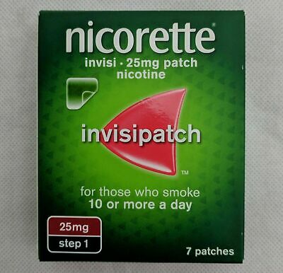 NICORETTE INVISI 25mg Patch - Step 1 X 140 Patches - FREE INTERNATIONAL SHIPPING