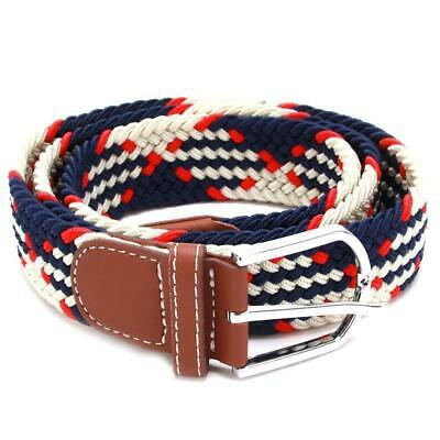 Belt Men Braided Stretch Belt No Holes Elastic Fabric Woven Belts BL3