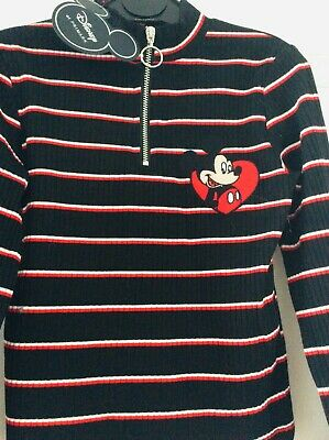 New girls Minnie Mouse top jumper, age 8-9 years