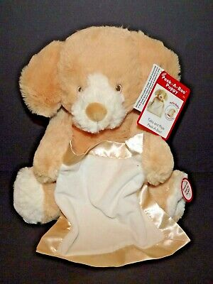 Gund Peek-A-Boo Puppy Talking Animated Plush Doll Toy Tan New With Tags (d)