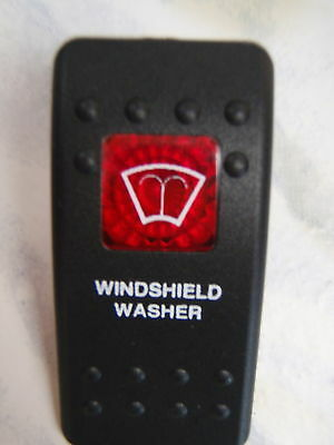 WINDSHIELD WASHER ACTUATOR BLACK 1 RED LENS FITS CARLING CONTURA V1D1 SWITCH