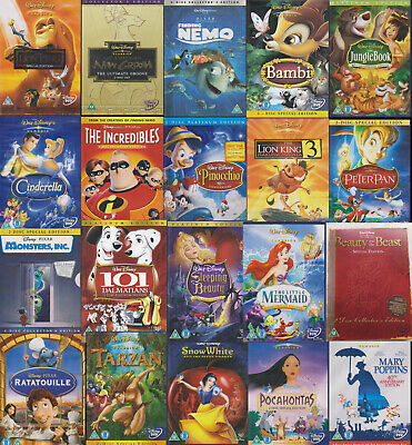 Disney 2-Disc Special / Collectors Edition DVDs UK Region 2 Pal DVD