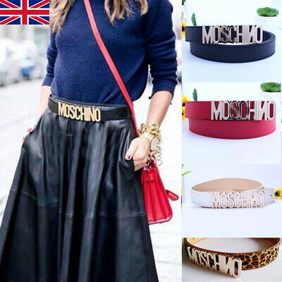 Ladies Women Fashion Letters MOSCHINO Belt Alloy Belt Buckle Waistband 2.8cm