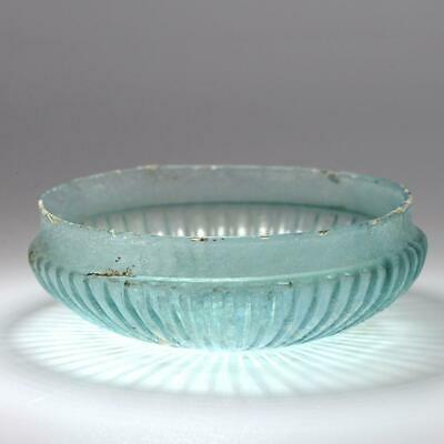 A Roman Glass Ribbed Shallow Bowl, Roman Imperial, 1st Century BC-1st Century AD
