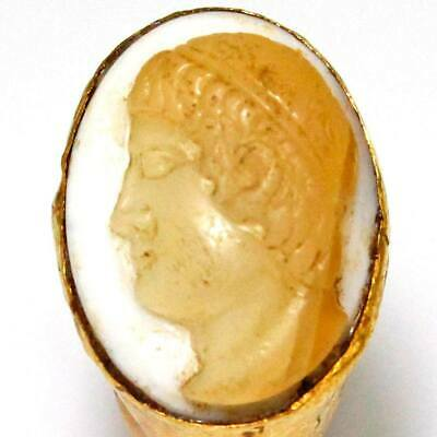 A Roman Gold and Onyx Cameo Ring of Apollo, ca 2nd century CE