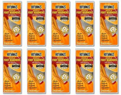 10 Pairs Of Hothands Insole Foot Warmers, Up To 9 Hours Of Heat Expired 05/2019