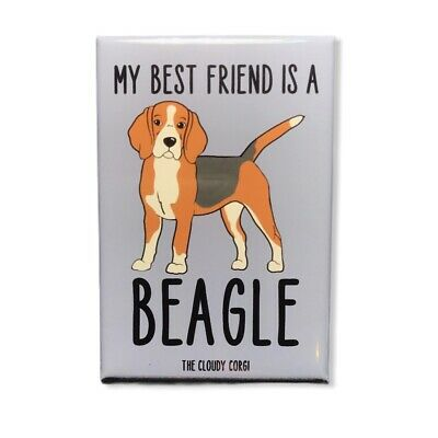 Funny Dog Beagles In Bed Refrigerator Magnet Gift Card Insert