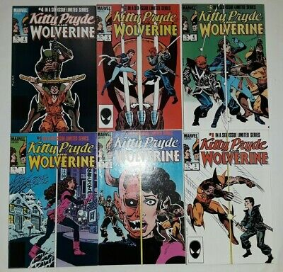 KITTY PRYDE /& WOLVERINE LIMITED SERIES #1-6 VF NEAR MINT COMPLETE SET 1984