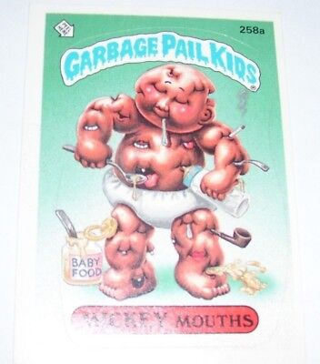 Garbage Pail Kids Mickey Mouths 1987 Topps Trading Card 258a