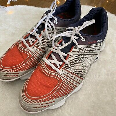 Men's Footjoy Hyperflex II golf shoes - 11 M - Red, White, Blue And Gray