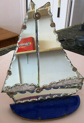Art Deco 1930s Sailing Boat Yacht Wall or Mantle Mirror