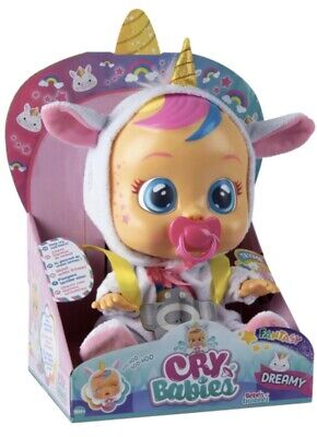Cry Babies Fantasy DREAMY THE UNICORn Exclusive Baby Doll Cries Real Tears New