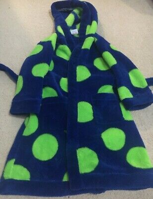 Kids Blue & Green Spotty Dressing Gown size 2-3 years