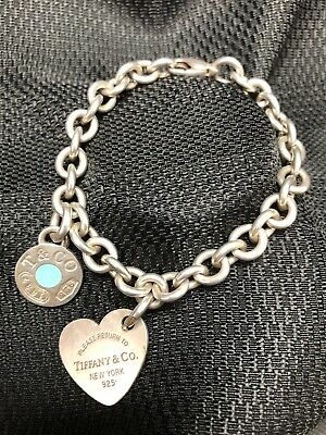 Authentic Tiffany & Co Sterling Silver Charm Bracelet Silver Charms Pendant .925