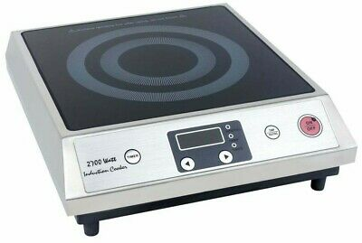 ZYCO Commercial Catering Electric Induction Hob Cooker 435x360x130mm 2.7kw