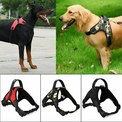Service Vest Dog Harness Adjustable Patches Reflective Small Large Medium S-XL