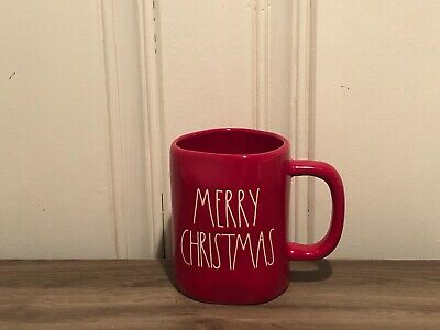 Rae Dunn By Magenta MERRY CHRISTMAS LL Large Letter Farmhouse Red Holiday Mug