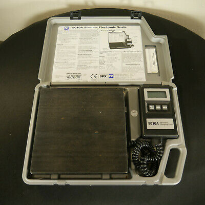 TIF 9010A Slimline Electronic HVAC Refrigerant Charging Recovery Scale TESTED