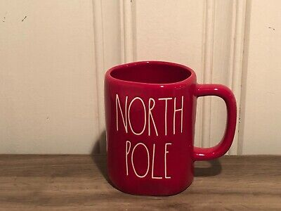 Rae Dunn Christmas By Magenta NORTH POLE Large Letter Farmhouse Red Holiday Mug