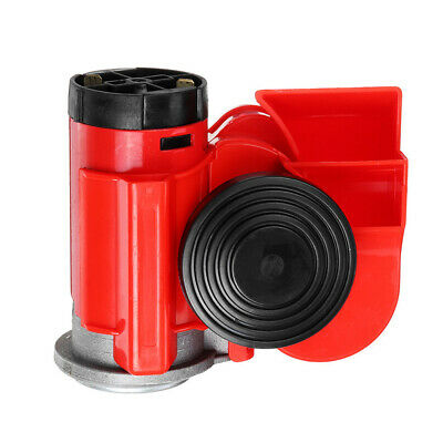 Air Jet Horn Red 12V 150dB Twin Tone Loud for Car Truck SUV RV Boat K7Y5