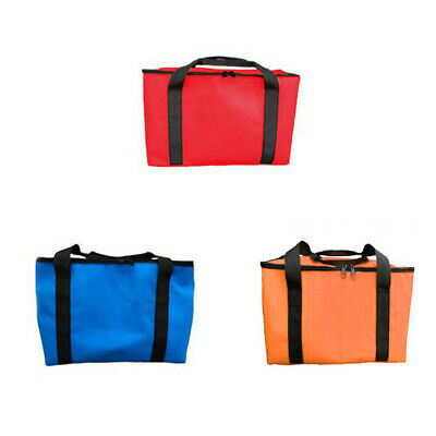 1pc Insulated Pizza Delivery Bag Water Repellent Non-woven Fabric Food Storage