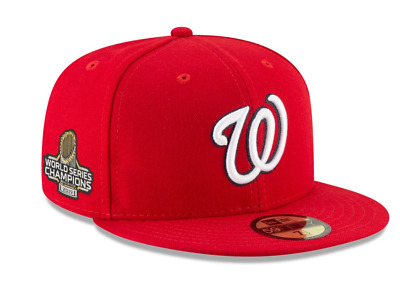 Washington Nationals New Era 2019 World Series Champions 59FIFTY Fitted Hat Red