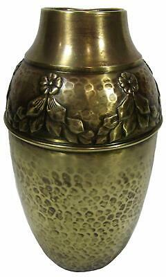 Antique German WMF Art Nouveau Jugendstil Brass Vase 24.5 cm / 9½""