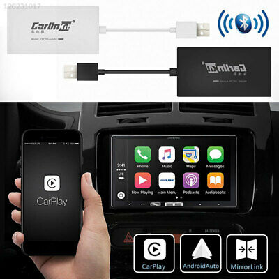 96F1 Black Bluetooth Apple IOS CarPlay Dongle Link Dongle for Apple Wireless