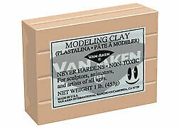 Plastalina Modeling Clay 1 lb. Bar - Beige Flesh