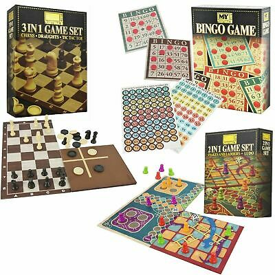 Traditional Board Games Snakes & Ladders Ludo Chess Draughts Tic Tac Toe Bingo