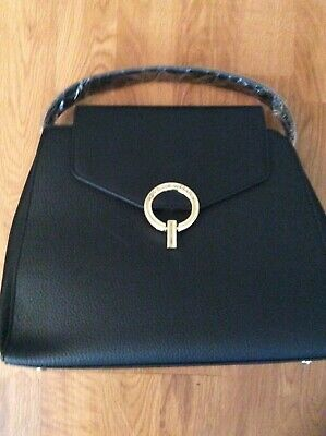 Adrienne vittadini Black Satchel Handbag New With Tags AVH-2353 Retail $189