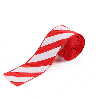 Christmas 38mm Red and White cake Xmas Tree Gift Candy Cane Stripe Ribbon Decor