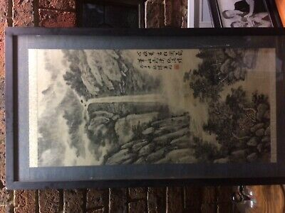 Chinese Painting.Framed in glass.Original by famous artist, Chen Ying-Ming