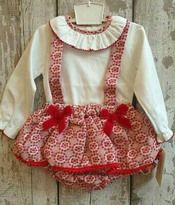 Baby Girl Spanish Style Romper and Top Set / Outfit