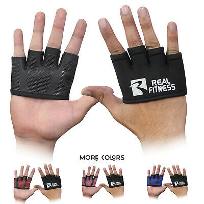 Cross fit Gloves Sports Wear Finger less Hand Grip-Gym Training Gloves Palm