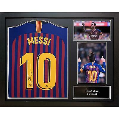 Lionel Messi Autographed Barcelona 2018/19 Signed And Framed Football Shirt